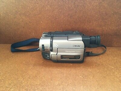 1998 Sony Handycam Hi8 XR DCR-TRV85 Digital-8 Camcorder w/ Case, New Battery