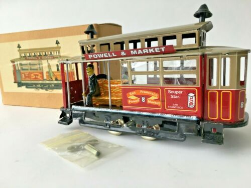 NEW San Francisco CABLE CAR Trolley Tin Litho Wind Up Clockwork Mechanism (BOX)