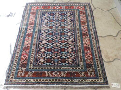 4x6ft. Handmade Caucasian Chichi Design Wool Rug