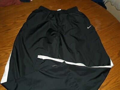 NIKE Mens Pants SZ L Athletic~RUNNING CASUAL TRAINING~MESH LINED~BLACK