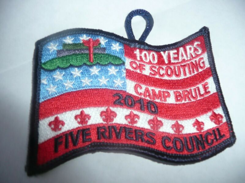 CAMP BRULE SCOUTING PATCH 2010 Five Rivers Council BSA