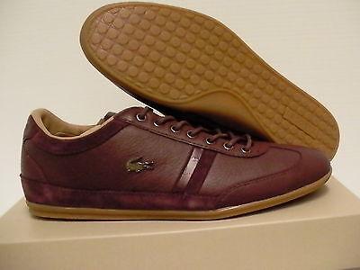 Lacoste casual shoes misano 36 spm dark brown size 7.5 us men