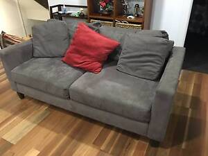 Freedom Sofa 2 seater Chocolate brown microsuede style Carina Brisbane South East Preview