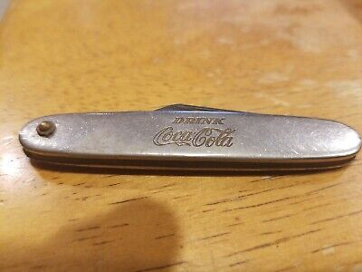 Vintage 1960s Coca Cola Coke Pocket Knife advertising
