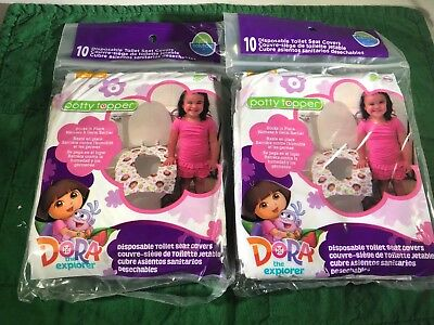 Neat Solutions Potty Topper Disposable Toilet Covers Dora Lot of 2 NEW NIP (Toilet Toppers)
