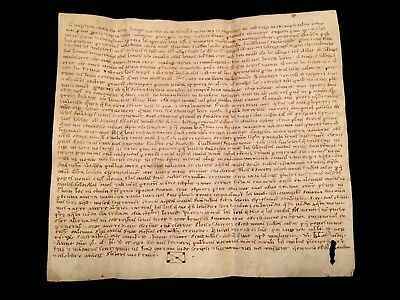AUTHENTIC MEDIEVAL VELLUM 1265