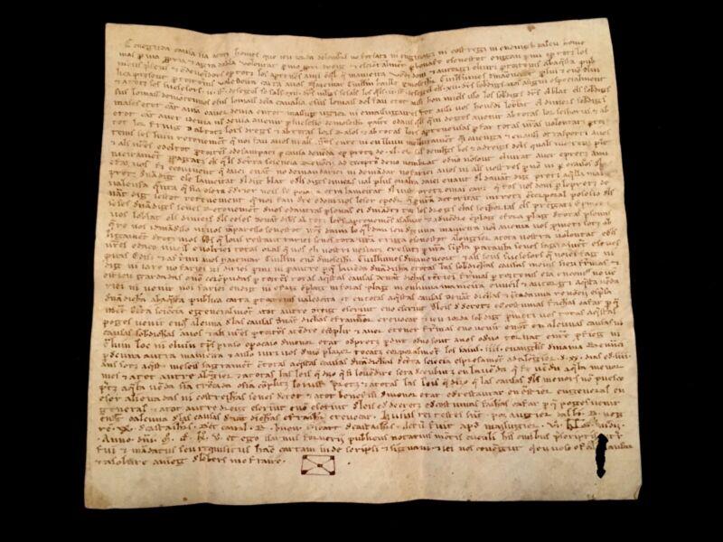 AUTHENTIC MEDIEVAL VELLUM 1265