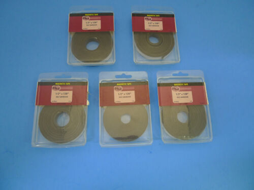 """(LOT OF 5) NEW Crown Bolt 1/2"""" x 120"""" Self Adhesive Magnetic Tape 97012"""