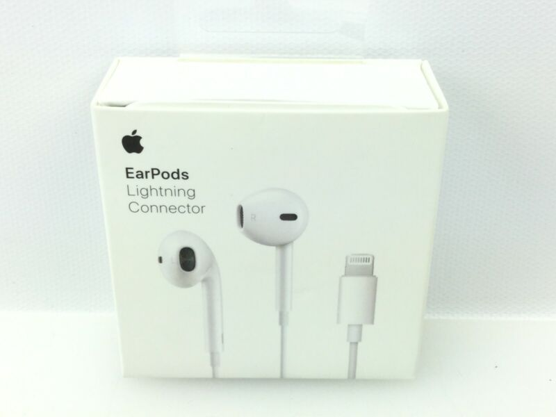 Apple EarPods with Lightning Connector Earbuds Headphones - White - MMTN2AM/A