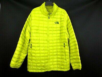 THE NORTH FACE Puffer Jacket Full Zip Yellow Light Weight Size Men's XXL [5-SC]