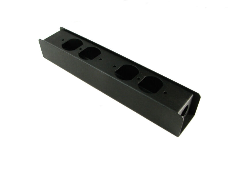 "Steel Project  Box  10-5/8"" x 1-7/8"" x 1 5/8"" Punched for 2 XLR"