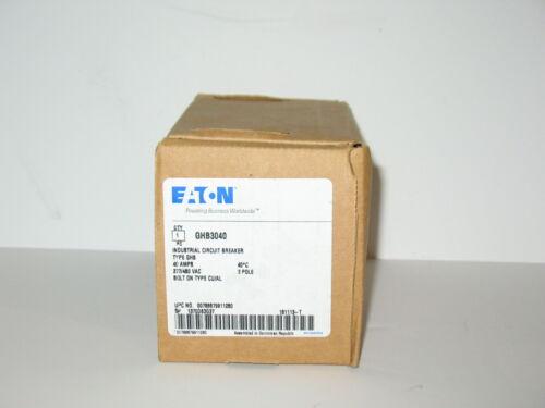 GHB3040 EATON Cutler Hammer 40 amp 3 pole 480 volt bolt on Circuit Breaker NEW