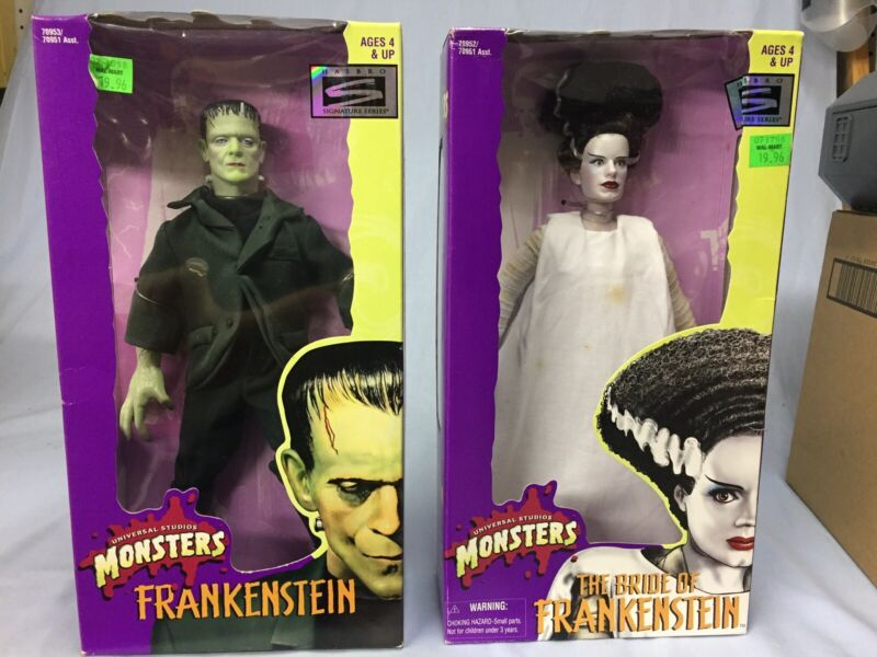 Kenner Universal Monsters Frankensrein And Bride Of Frankenstein Figures New
