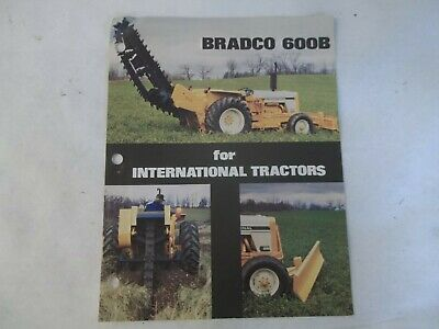 Bradco 600b Trencher For International Tractors Brochure