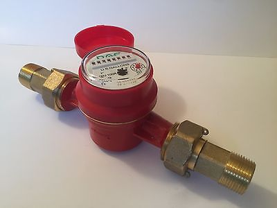 Dae As250u-100r 1 Inch Hot Water Meter Measuring In Gallon Couplings