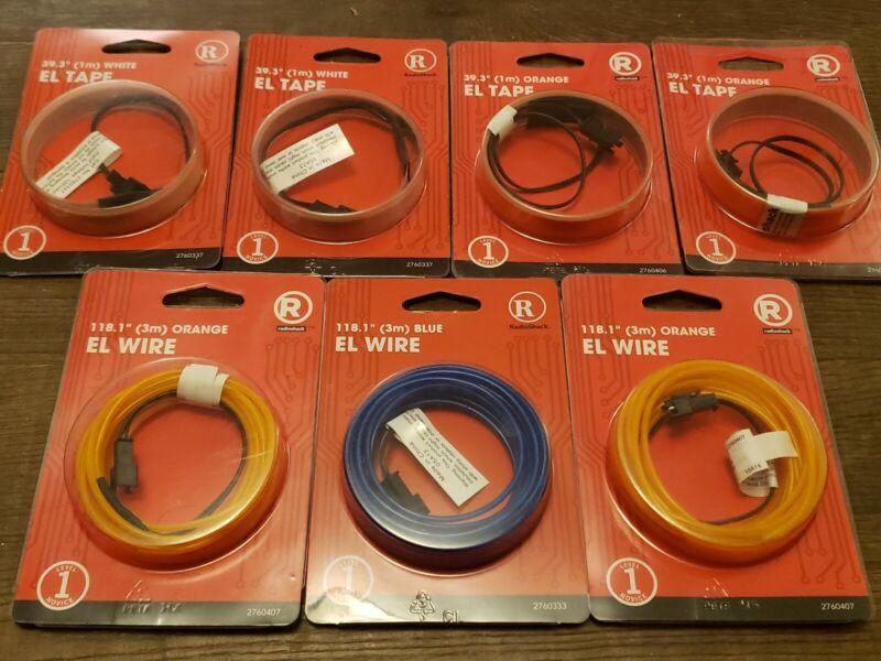 LOT of 7 Electroluminescence EL Wire EL Tape 1m 3m Pink Orange Blue