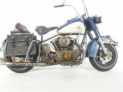 Blechmodell Metallmodell Motorrad Biker Chopper Harley Indian 42cm Neu