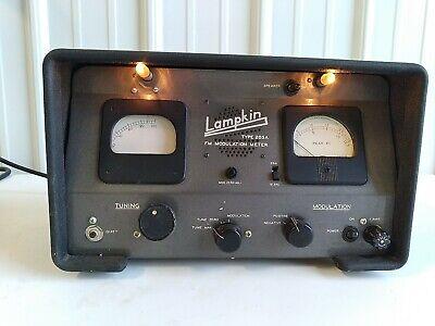 Vintage Lampkin Type 205a Fm Modulation Meter No Antenna