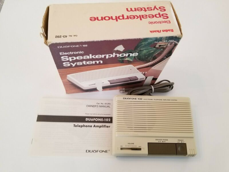 Vintage Radio Shack DUOFONE-102 Electronic Amplifier System Speakerphone NOS NIB