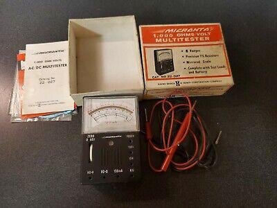 Vintage Radio Shack Tandy Micronta 22-027u 8-range 1000 Ohmsvolt Multitester