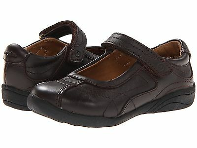 Stride Rite Brown Leather MaryJanes School Shoes Little Girls Size 11 1/2 M