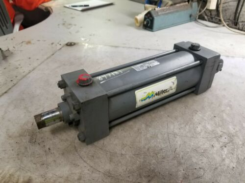 """NEW MILLER HYDRAULIC CYLINDER 3.25"""" BORE x 8"""" STROKE 1/2"""" PORTS CLEVIS MOUNT"""