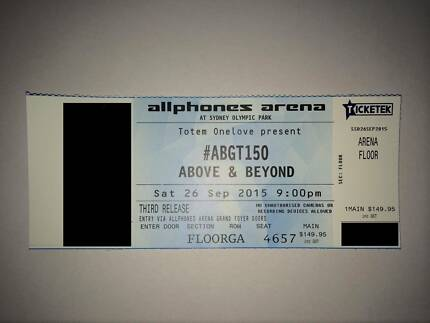 2 x Above & Beyond ABGT150 SYDNEY - GA Standing FLOOR Sydney City Inner Sydney Preview