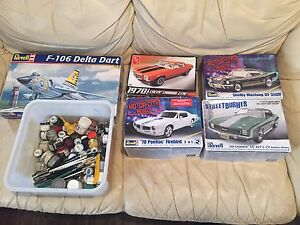 Model cars, Jet & $100's in paints & brushes