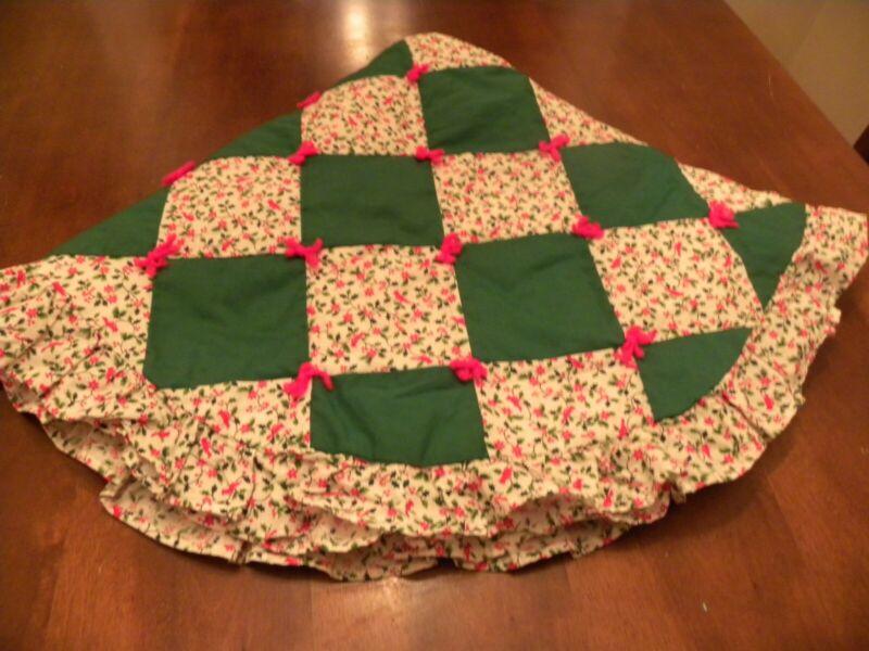 Handmade Quilted Christmas Tree Skirt