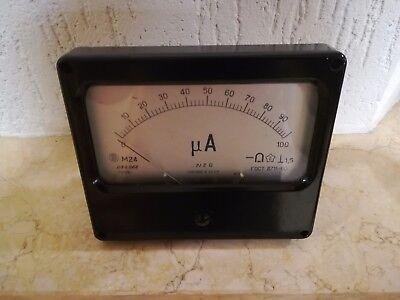 Vintage Tube tester Ammeter M24, Vintage microammeter M24, gebraucht gebraucht kaufen  Versand nach Germany
