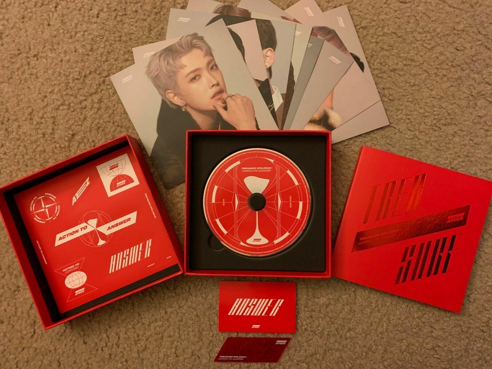 ATEEZ Treasure EPILOGUE Album + FOLDED POSTER (EVERYTHING ex. Member PCs) For Sale - 2