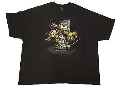 Teenage Mutant Ninja Turtles TMNT Turtle Power City Skyline Men's T Shirt 2X-5XL - Ninja Turtle Shirt