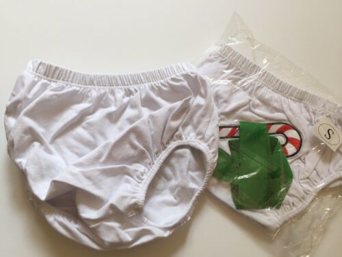 как выглядит New Baby Diaper Cover Bloomers Candy Cane Red Green White SZ S Small фото