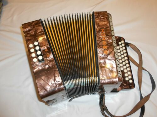 "Antique Hohner ""Club IB"" Button Accordion Accordian 1 B w/ Case Free shipping"