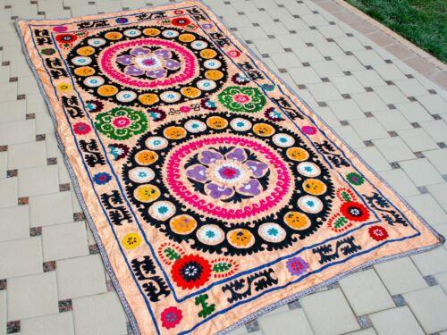 BEST PRICE Vintage Silk Suzani wall hanging Uzbek silk handmade embroidery suzan