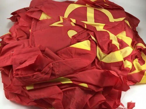 Russian Soviet original parts of the hammer and sickle flags. Different sizes.