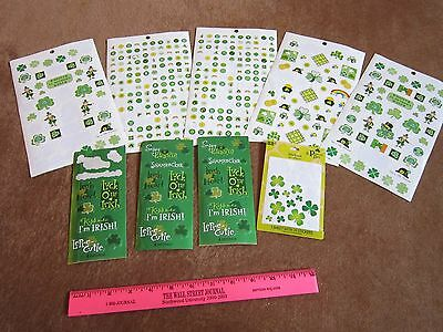 St. Patrick's Day Stickers Hallmark Shamrock Leprechaun Irish Sayings LOT - Irish St Patrick's Day Sayings