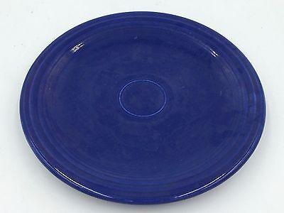 VINTAGE UNMARKED FIESTA BLUE USED NO CHIPS CRACKS ORIGINAL LARGE ROUND PLATTER