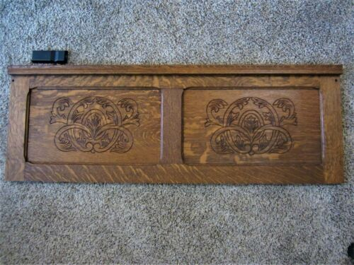 MINT! Tiger Oak Architectural Salvage Panel Carved Victorian Furniture Rack Door