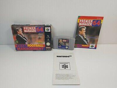 PREMIER MANAGER 64 N64 Nintendo N64 Complete PAL Tested