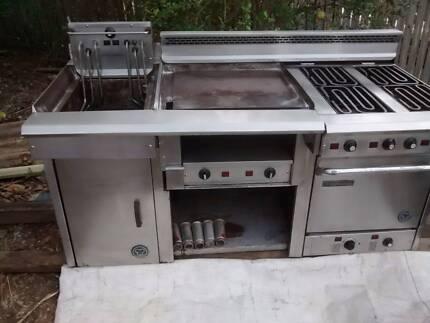 Goldstein Commercial Electric Oven+Griddler+Deep Fryer