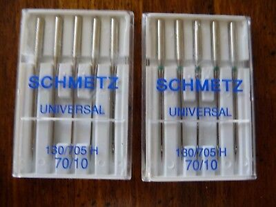 10 Schmetz UNIVERSAL Sewing Machine Needles Size 70/10 & Booklet about Needles