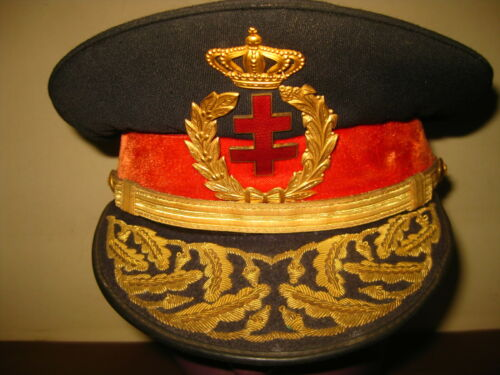 ANTIQUE MILITARY GENERAL HAT CAP KEPI CASQUETTE GORRA FRENCH LORENA CROSS RARE