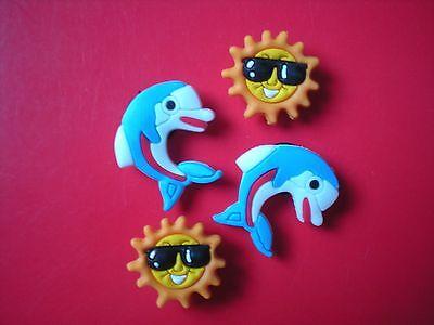 Clog Shoe Charm Button Plugs Accessories Bands Sandal Beach Theme Dolphin Sun - Beach Themed Accessories