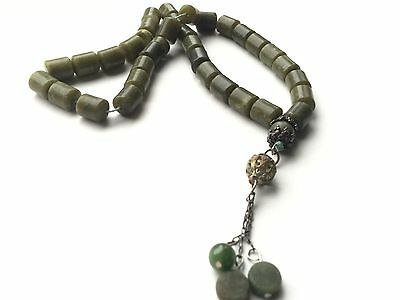 ANTIQUE JADE PRAYER BEADS