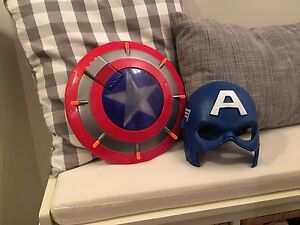 Captain America mask and shield