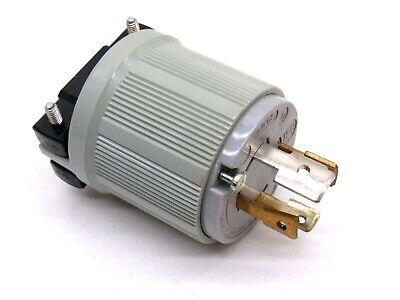 30A Twist-Lock Plug 4P 4W 120//208VAC L18-30P BK//WT