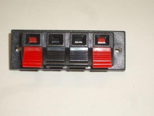 PHILMORE 1979 SPEAKER PUSHIN TERMINAL STRIP 4POSITION FOR STEREO SHORTWAVE RADIO