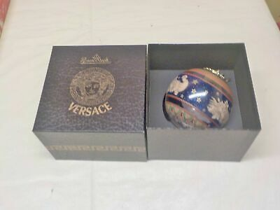 VERSACE CHRISTMAS ORNAMENT   IN BOX RARE FIND