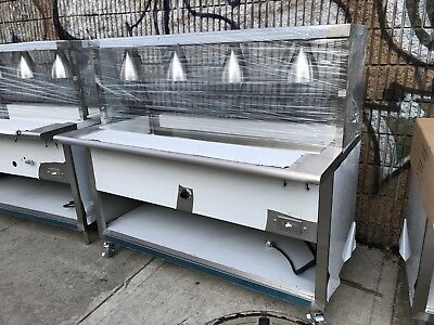 Stainless Steel Steam Table 60 Electric Wsneeze Guard Lights 220v 1ph Nsf